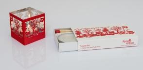 Teelicht-Set mit Zündholz 95mm